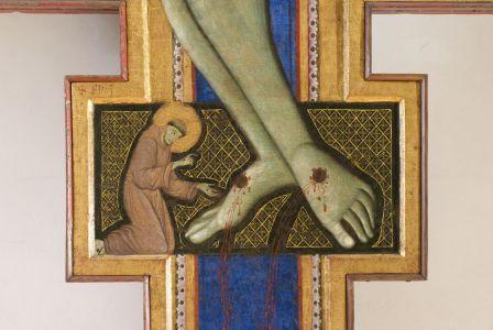 Croce dipinta, particolare